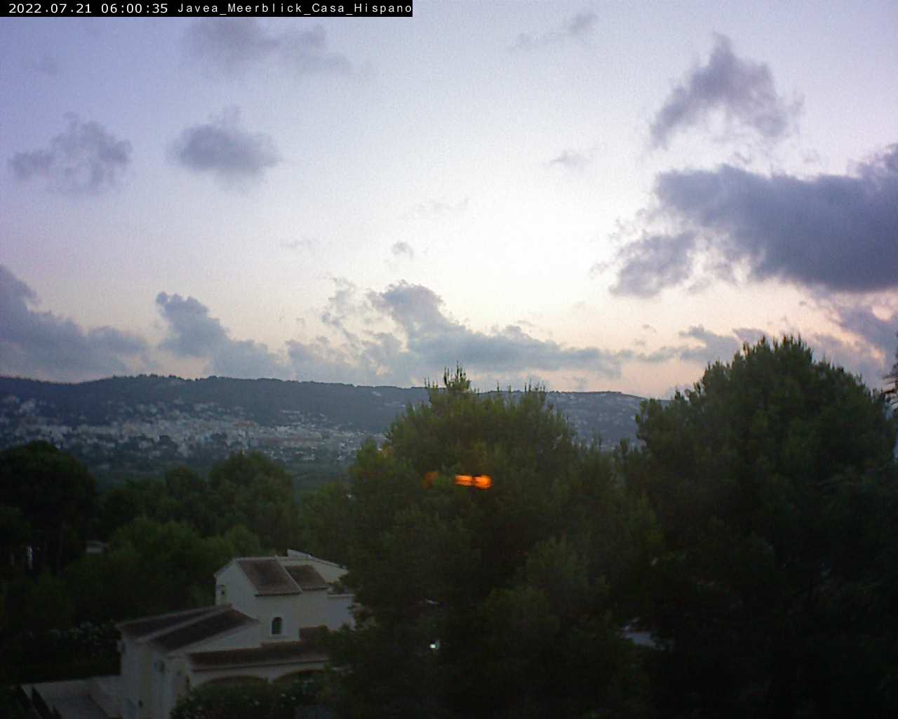 Jávea (Xàbia) – Casa Hispano – Blick zum Cap de San Antonio und zum Meer webcam Live